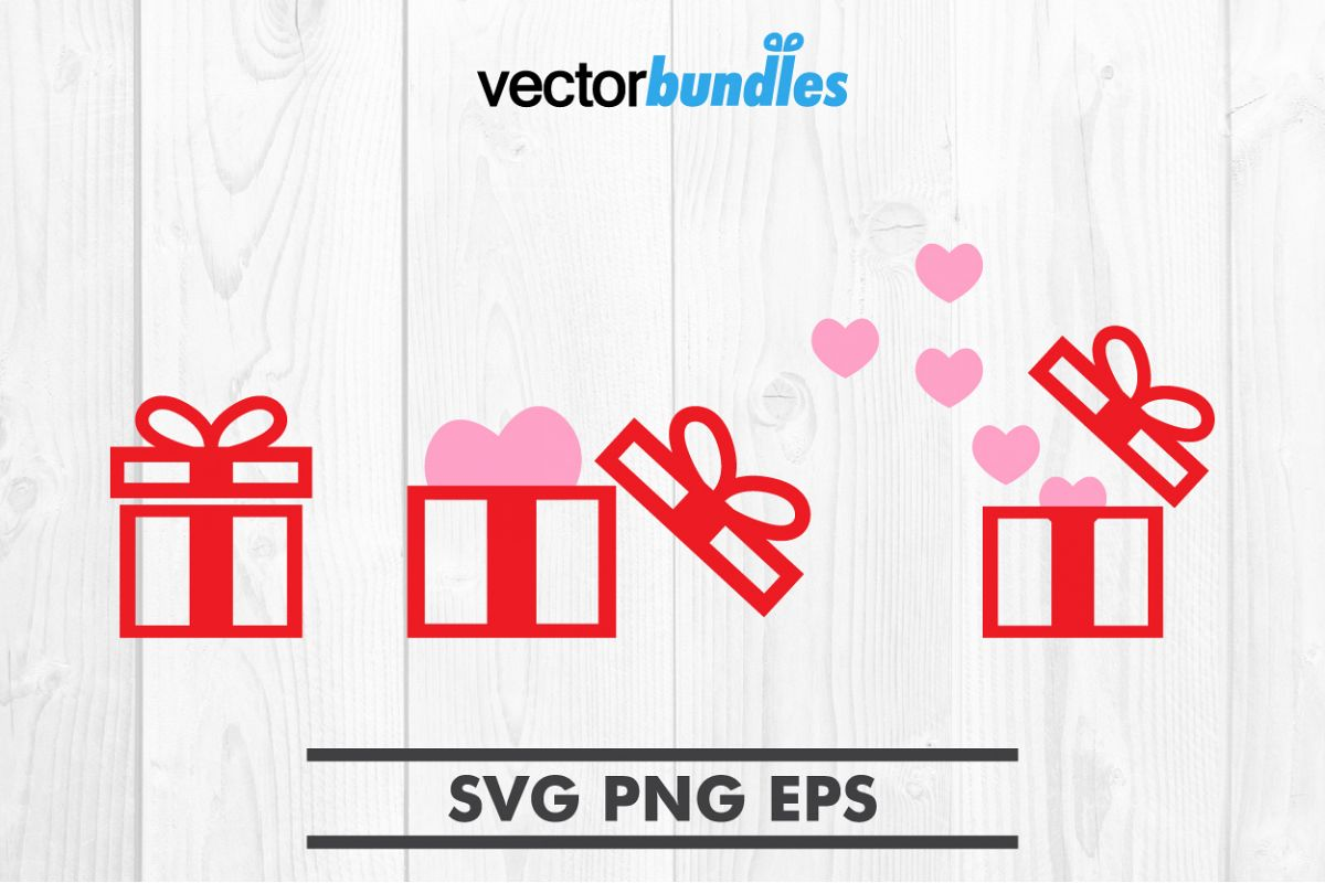 Gift box clip art svg example image 1