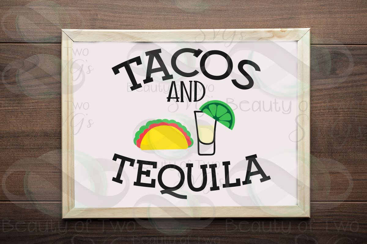 Cinco de Mayo svg & png, Tacos and Tequila svg, taco svg example image 1
