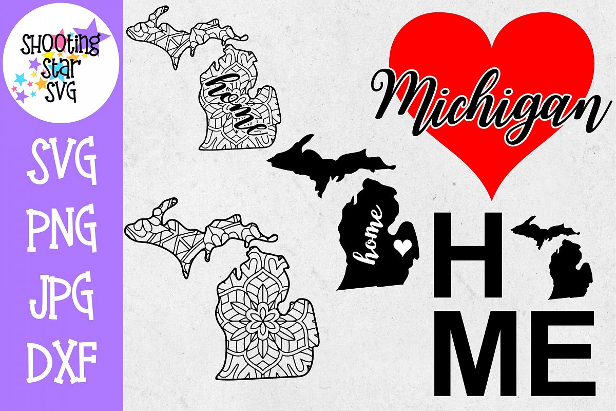 Michigan US State SVG Decal Bundle - 50 States SVG example image 1