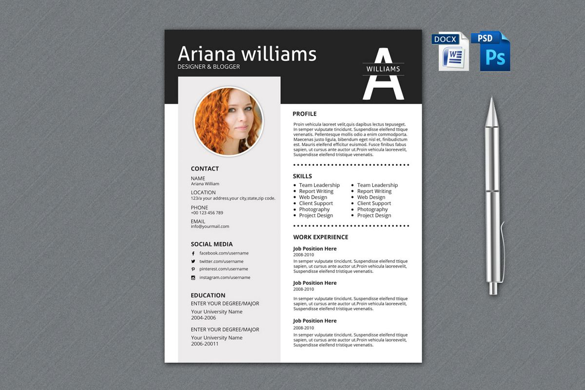 Resume Template | Cv Template, Professional Resume example image 1