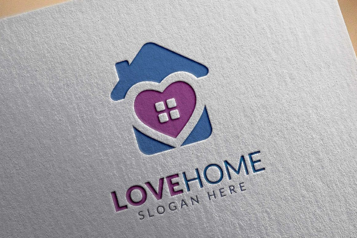 Love home logo, real estate logo example image 1