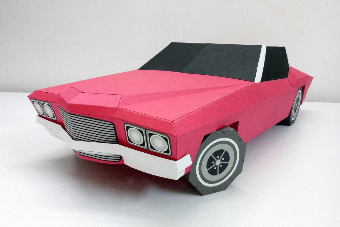 DIY Classic Car - 3d papercraft example image 1