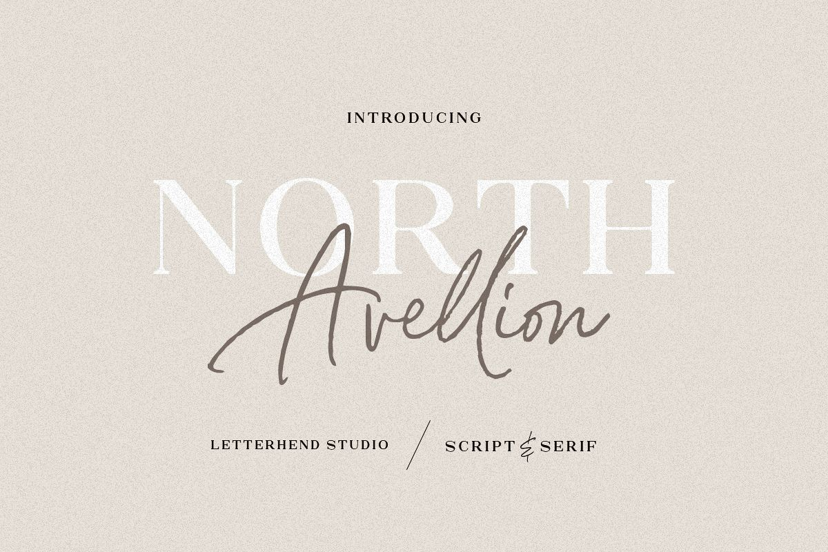North Avellion - Script & Serif Duo example image 1
