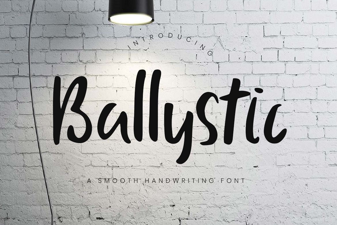 Ballystic Handwriting Typeface example image 1