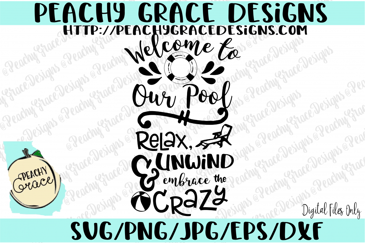 Welcome to Our Pool  SVG  example image 1