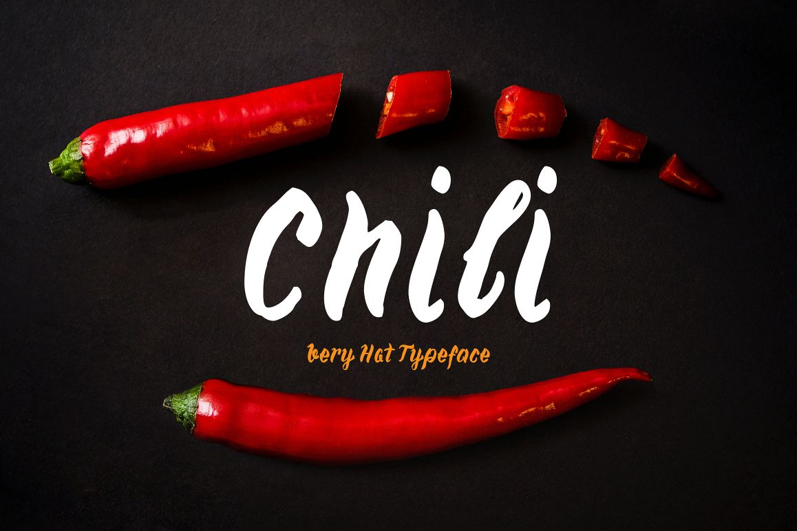 Chili—handwritten font example image 1