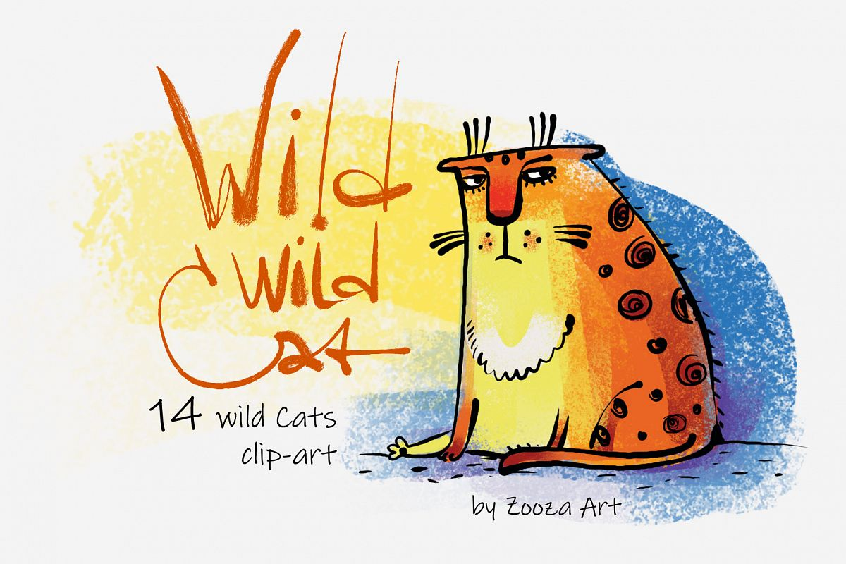 Wild Wild Cat - 14 illustrations example image 1
