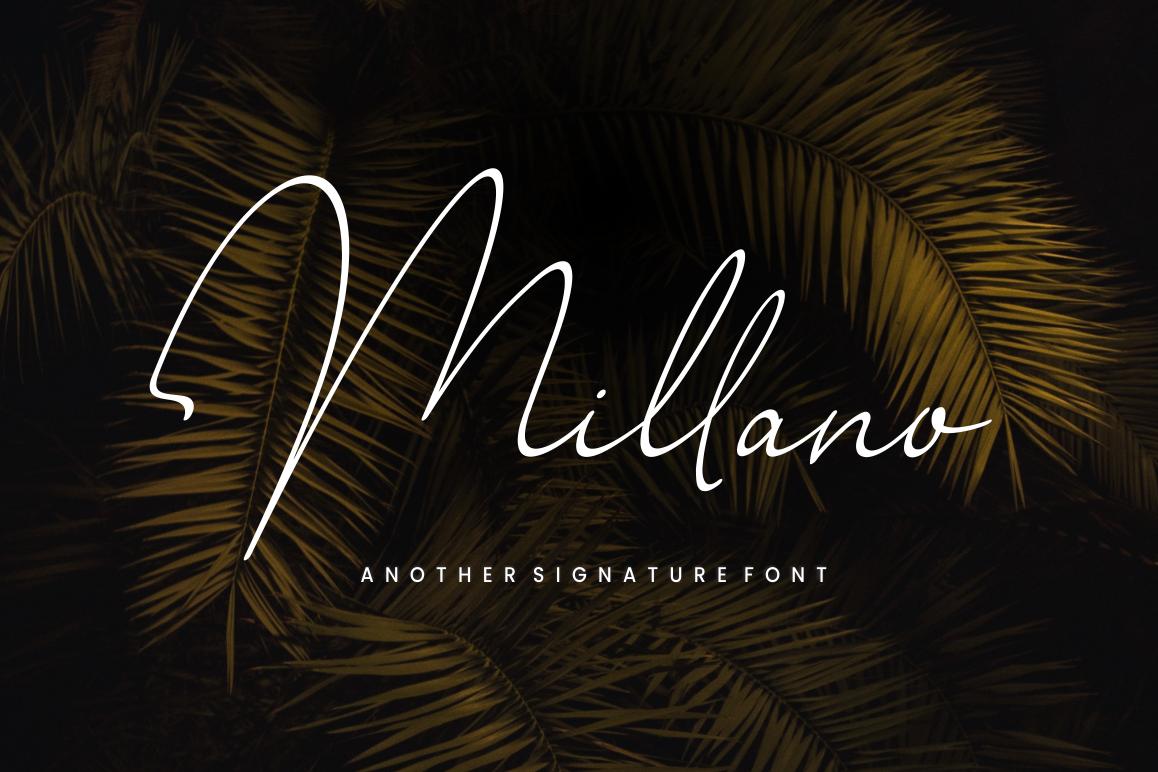 Millano // Signature Font example image 1