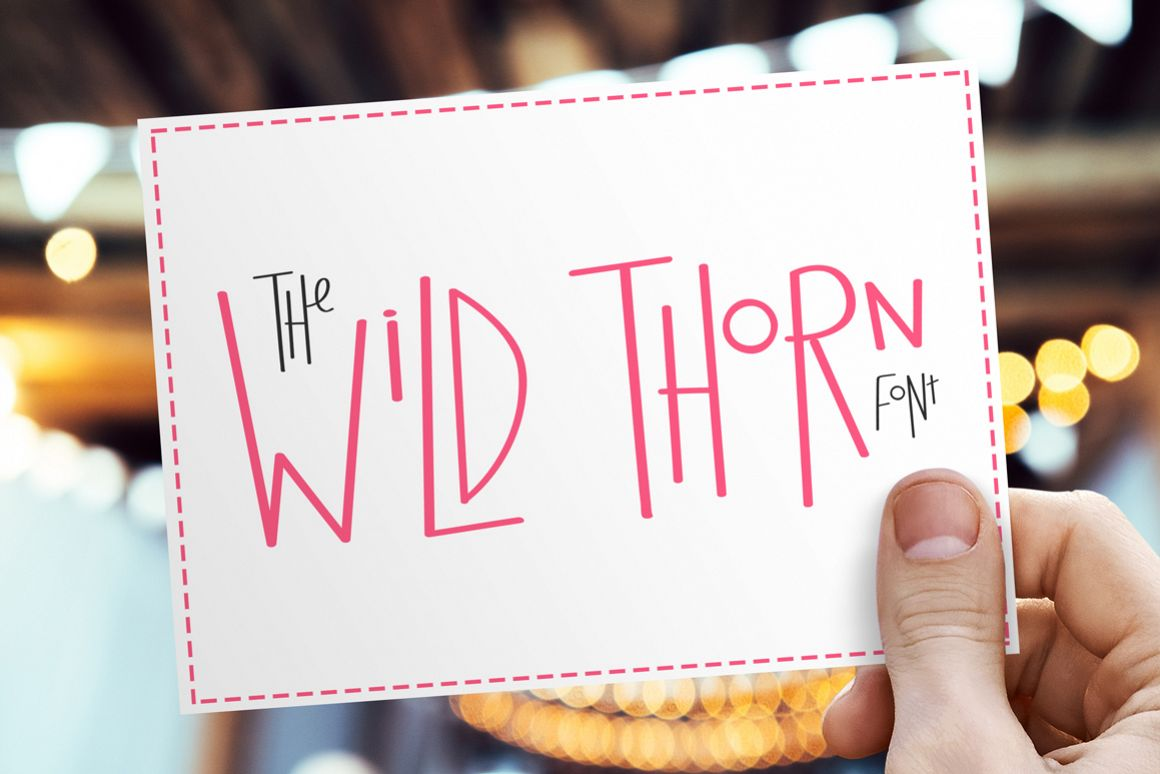 Wild Thorn Font example image 1
