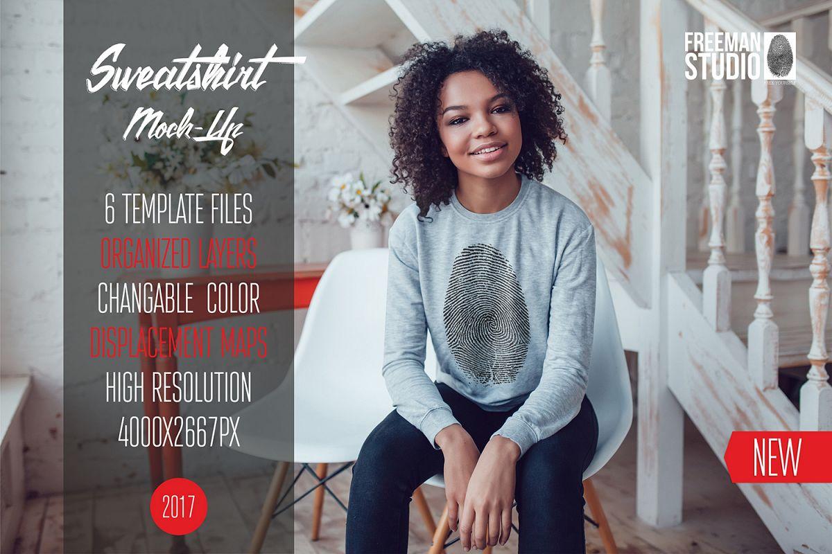Sweatshirt Mock-Up Vol.5 2017 example image 1