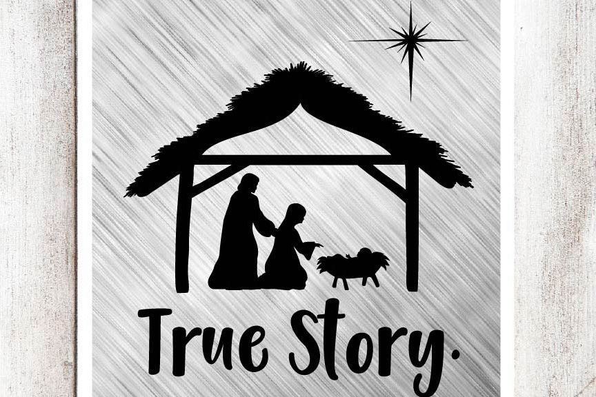 True Story Nativity Svgdxfeps File By  Design Bundles-9018