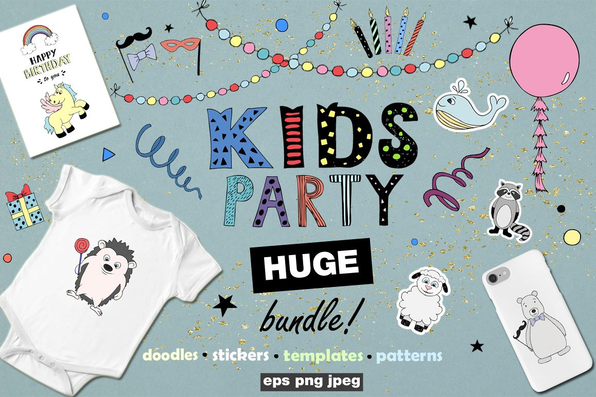 KIDS Party! Huge bundle example image 1