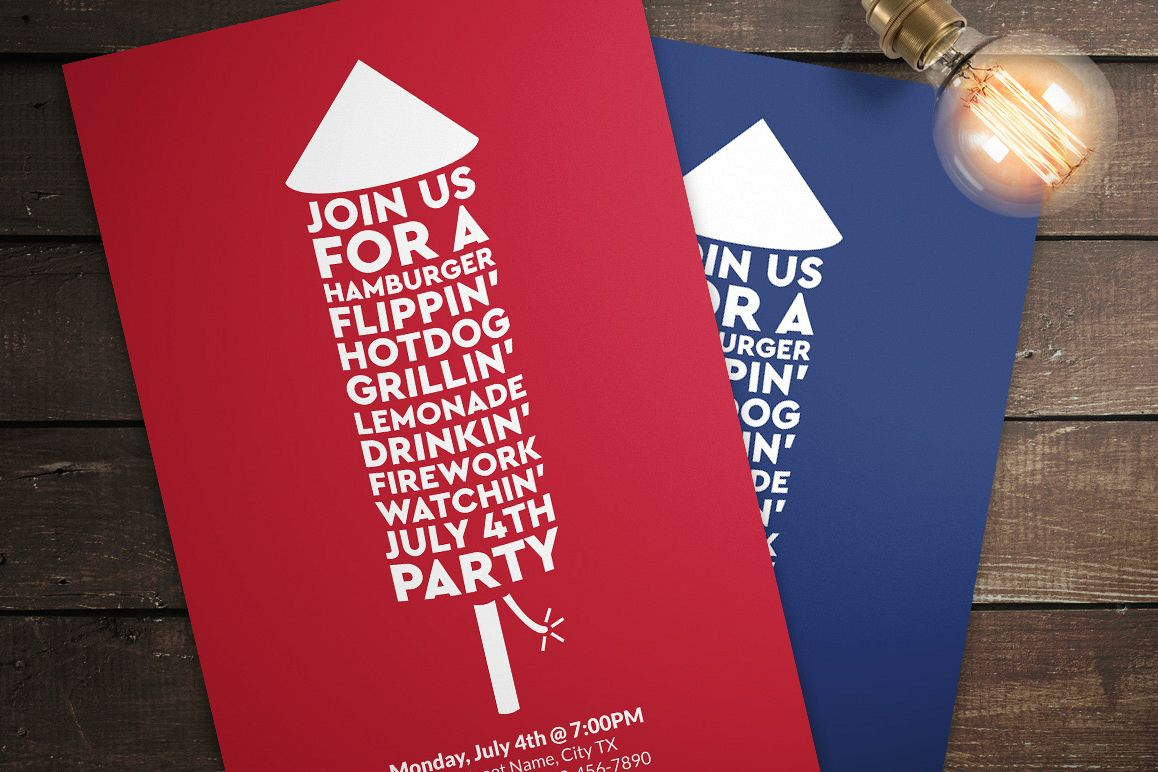 July 4th Invitations Example Image 1