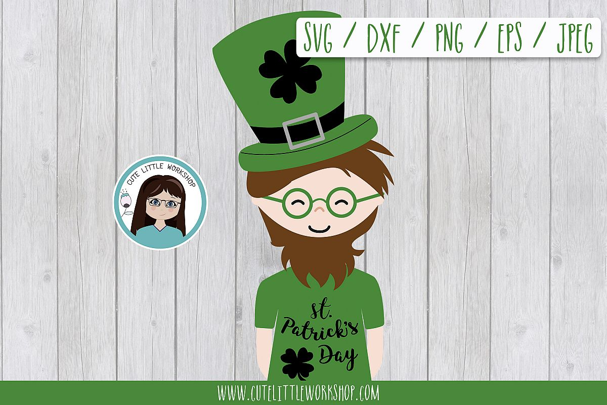 St. patricks's man, leprechaun SVG DXF PNG JPEG EPS example image 1