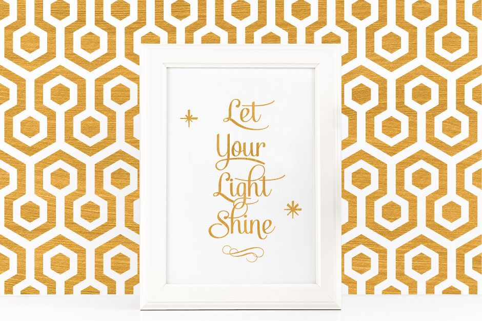 Let Your Light Shine Poster Inspirational Quote To Print In Gold