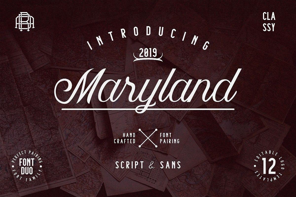Maryland | Classy Font example image 1