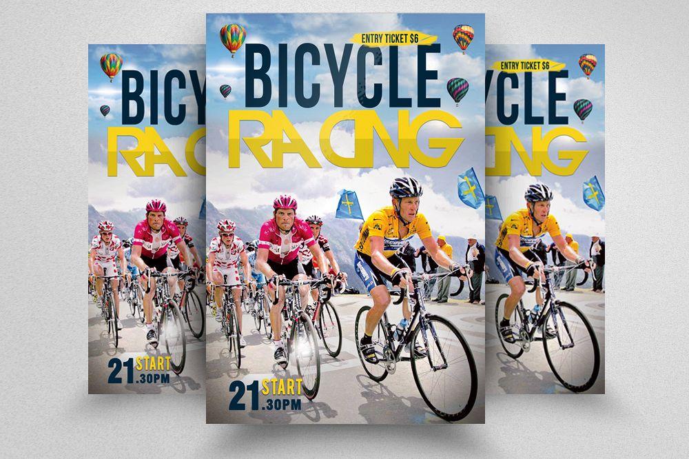 Bicycle Racing Flyer Templates example image 1