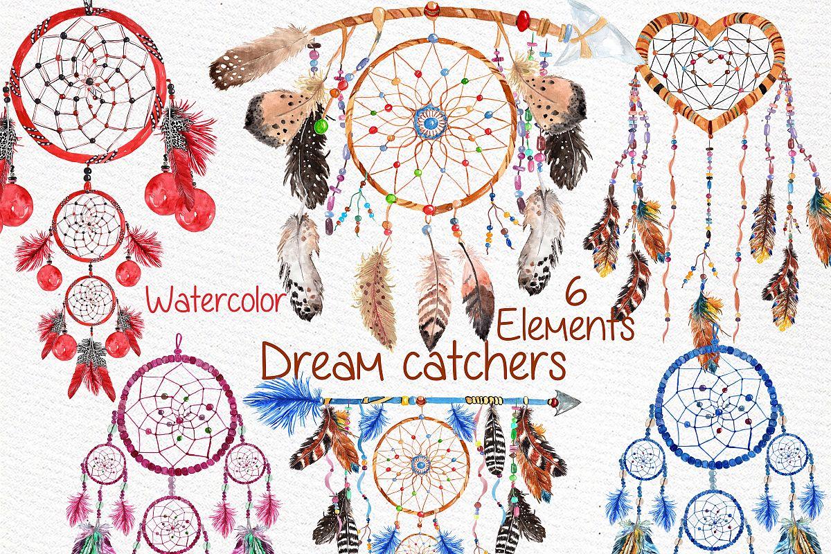 Dreamcatchers, Tribal clip art example image 1