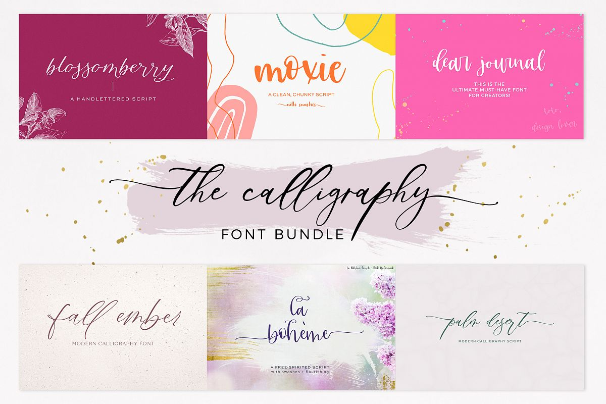The Chic Calligraphy Font Bundle example image 1