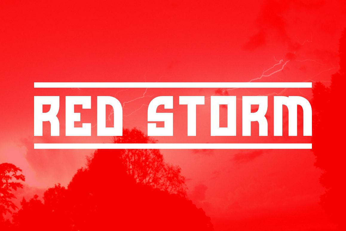 Red Storm | Special Designer Font example image 1