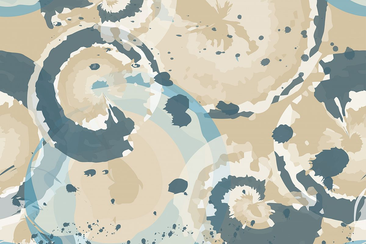 Seamless decorative background with blots and splashes. Vector illustration. Textile rapport.  example image 1