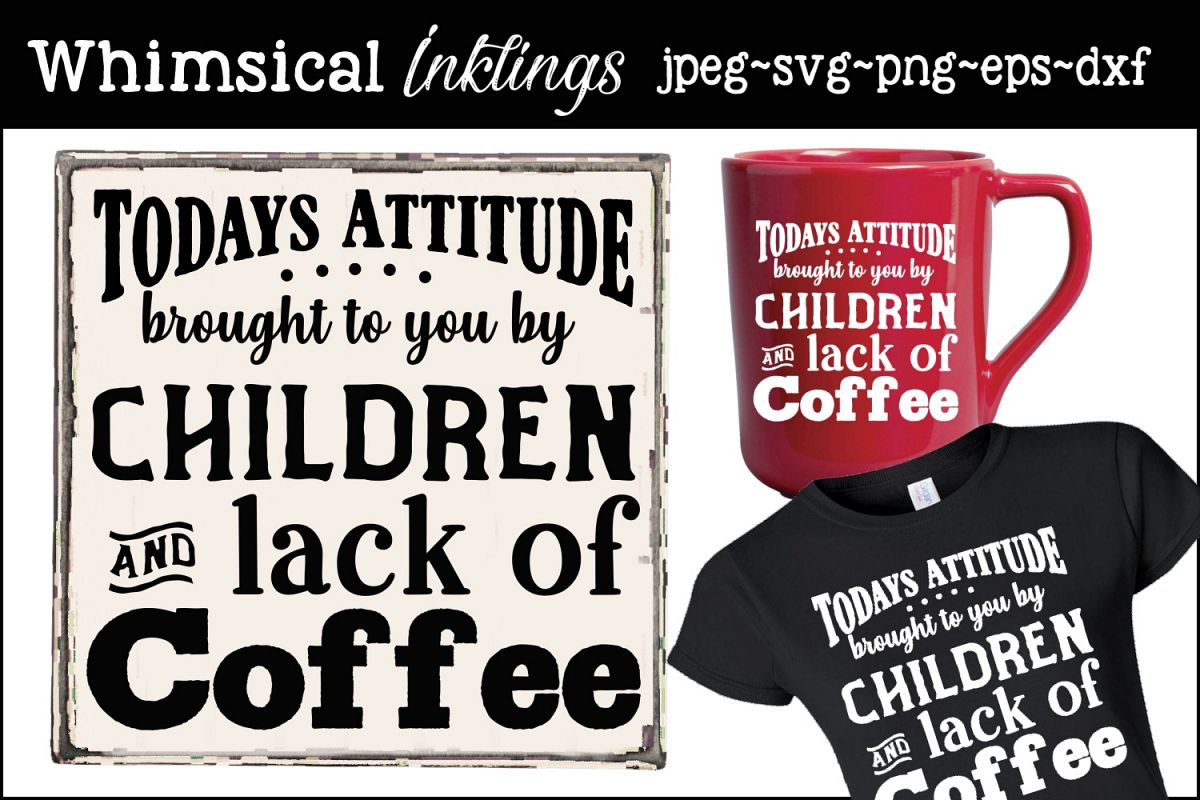 Children and Coffee SVG example image 1
