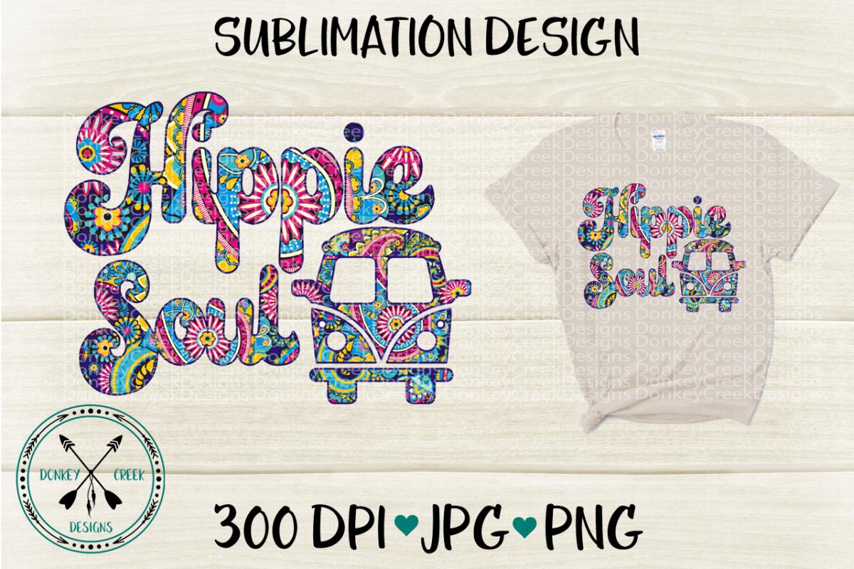 Hippie Soul Sublimation Design