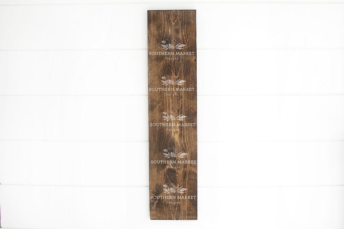 Wood Framed Sign 8x24 Mock Up Photo Stock Photography example image 1