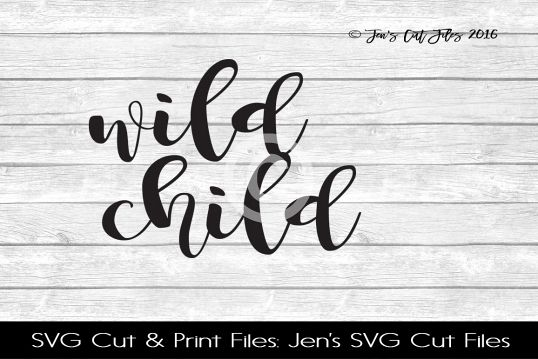 Wild Child SVG Cut File example image 1