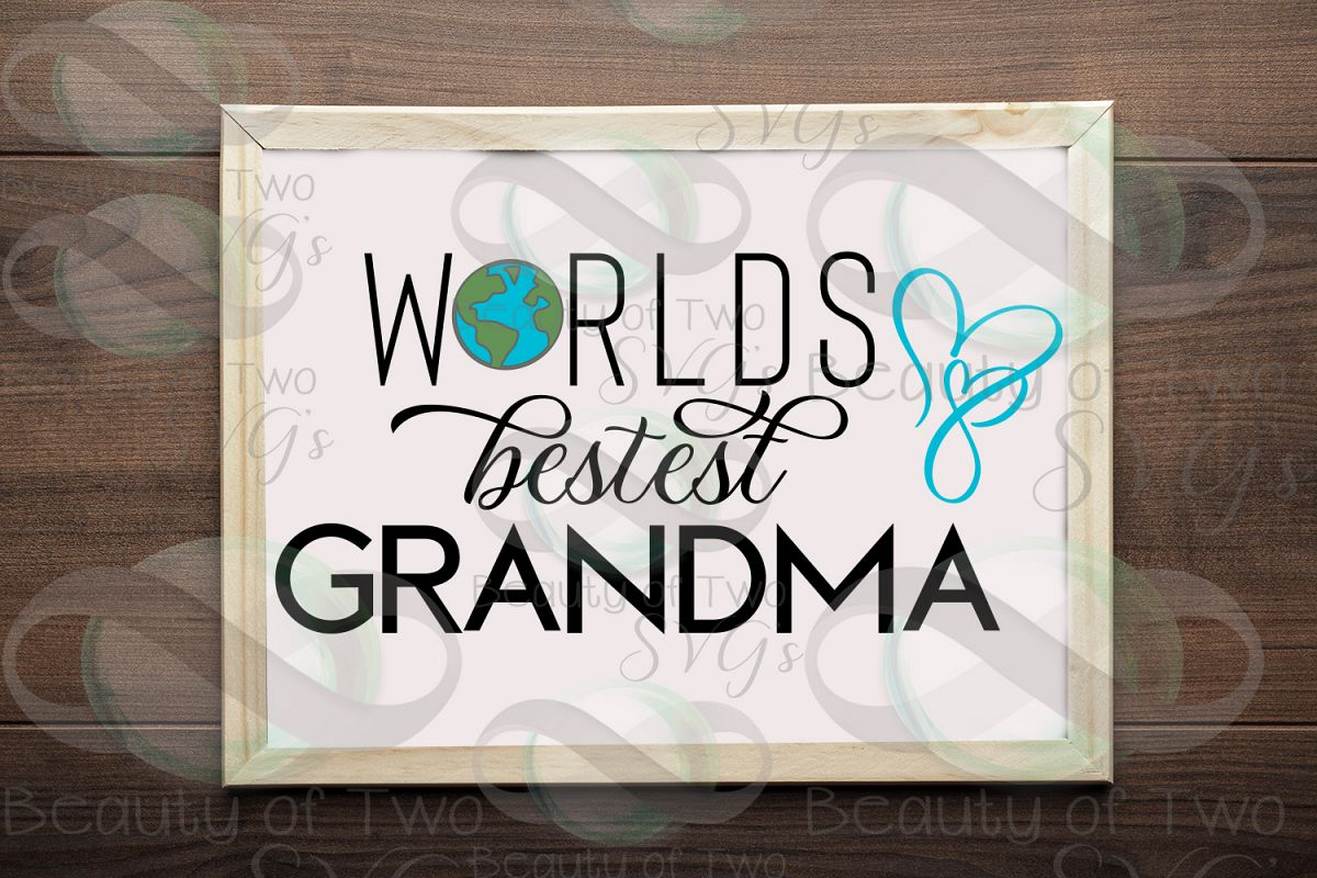 Mothers Day svg & png, Best Grandma svg, Grandmother svg example image 1