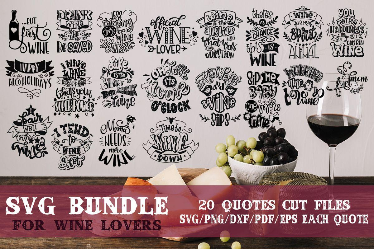 Wine svg bundle Alcohol SVG for t-shirt Design example image 1