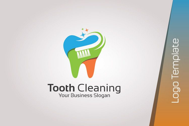 Dental Logo Template - Tooth Cleaning example image 1