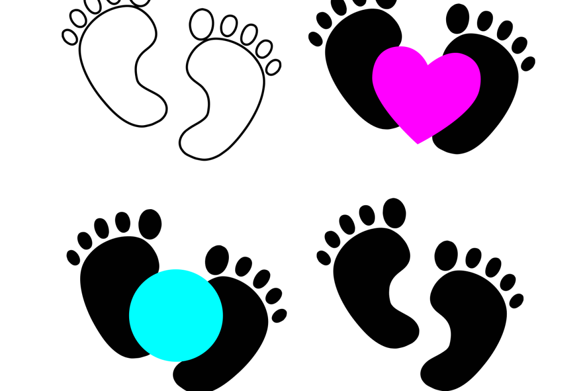 Baby feet svg example image 1