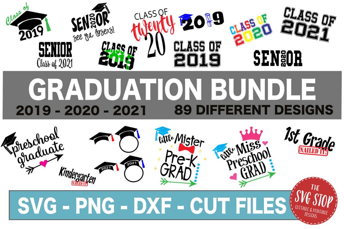 Graduation SVG Bundle - SVG, PNG, DXF example image 1