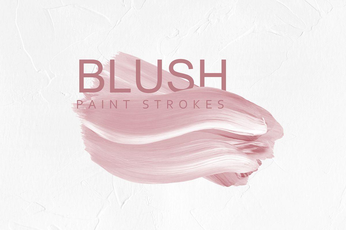 Blush Pink Paint Brush Strokes example image 1