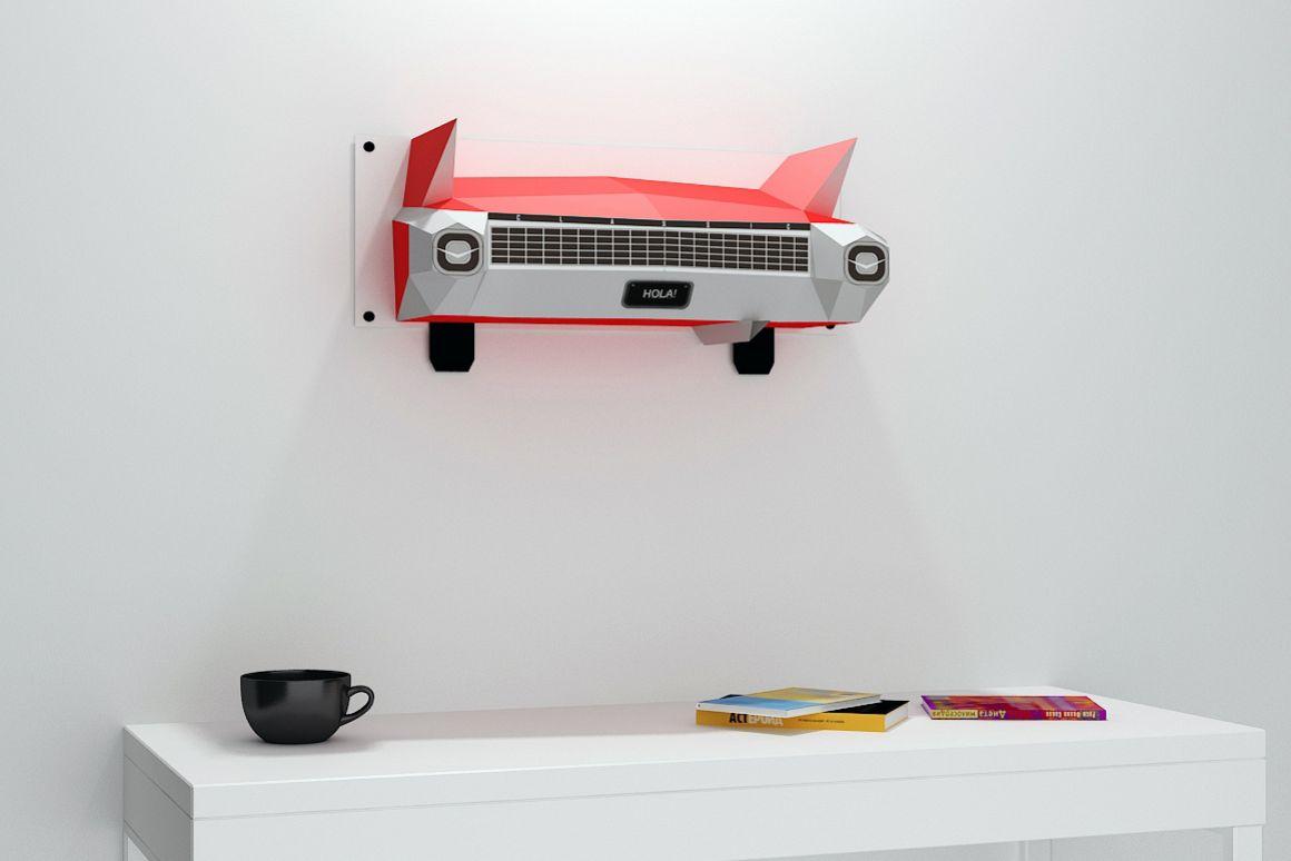 DIY Wall mount Car - 3d papercraft example image 1