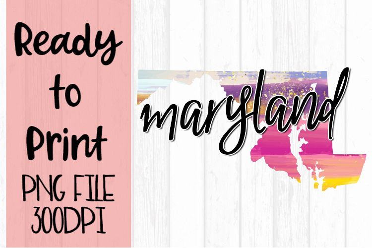Maryland Painted States Ready to Print example image 1