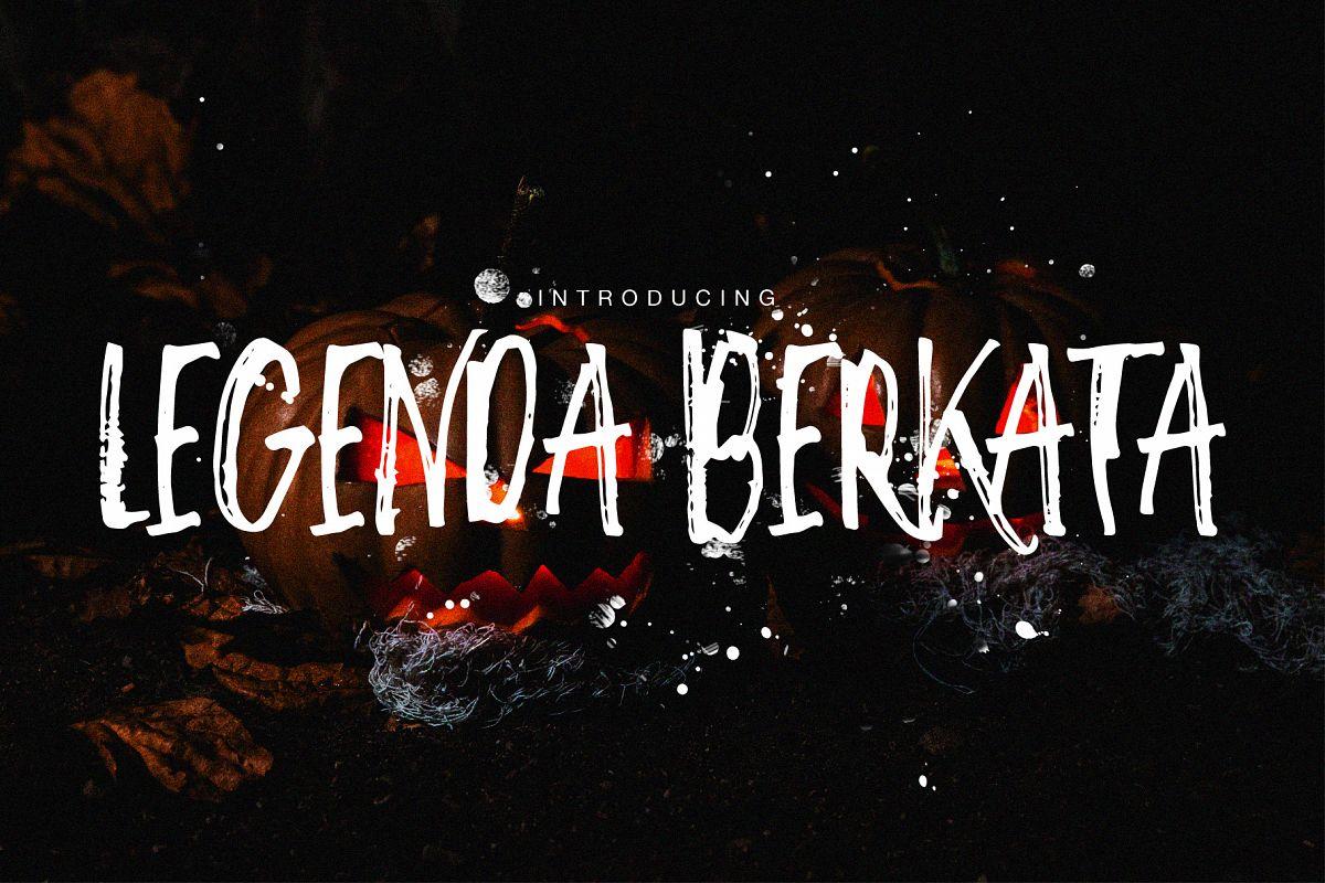 Legenda Berkata Rough Font example image 1