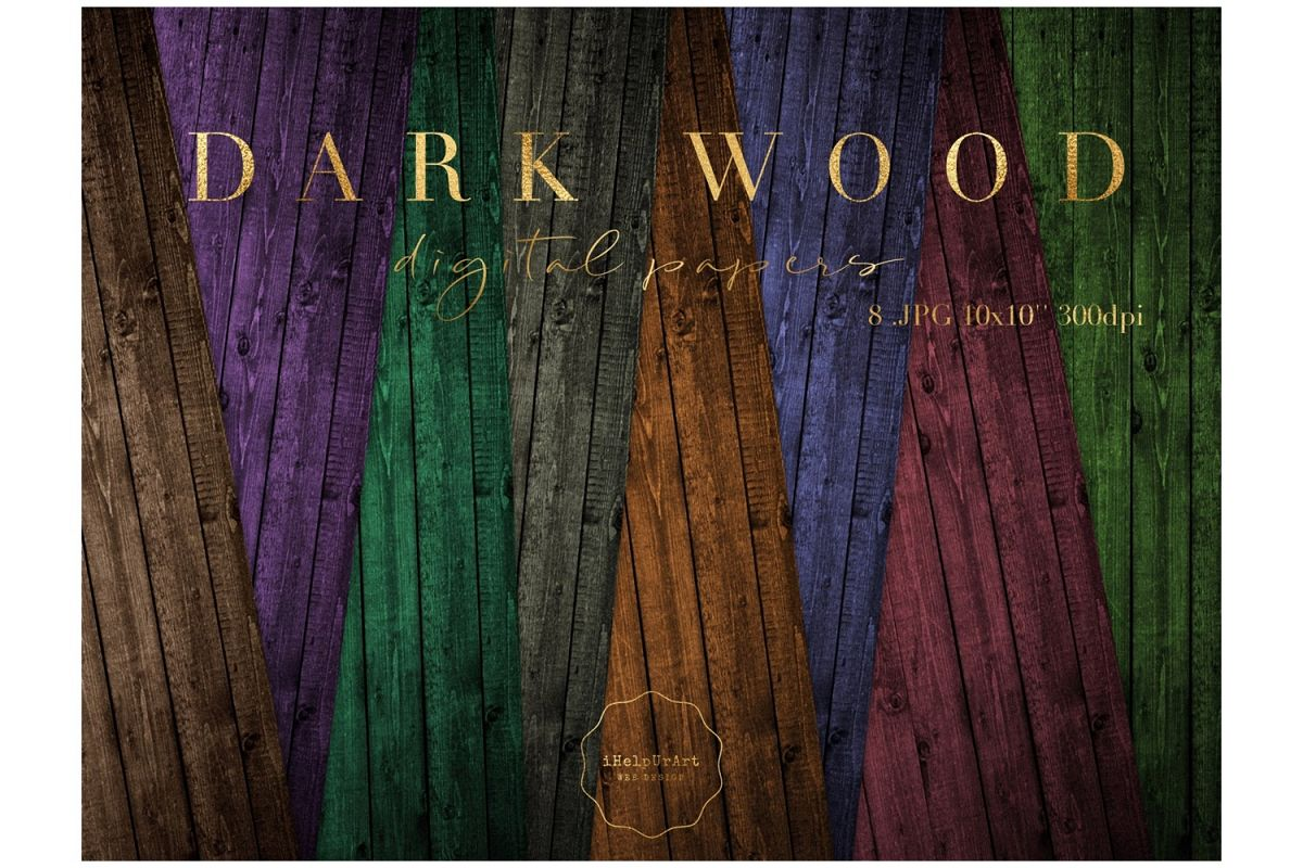 Dark Wood Texture Paper example image 1