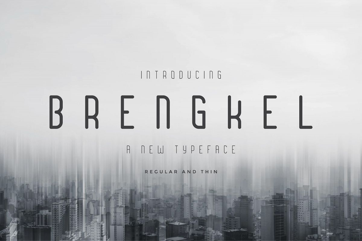 Brengkel - Condensed Font example image 1