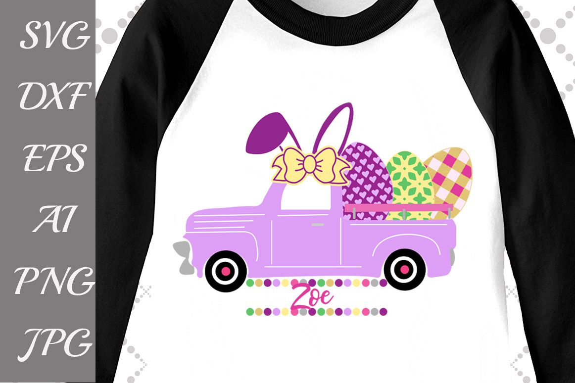 Easter Truck Svg example image 1