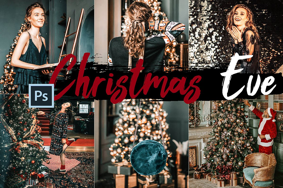 05 Christmas Eve Photoshop Actions, ACR and LUT presets example image 1