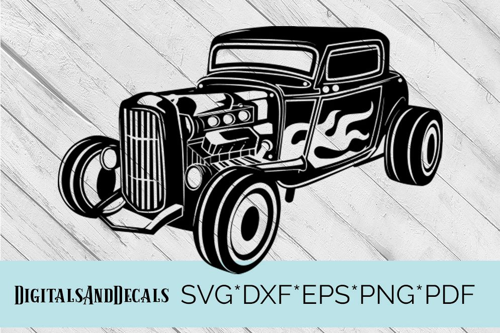 HotRod Classic Truck  SVG Cutting File  example image 1