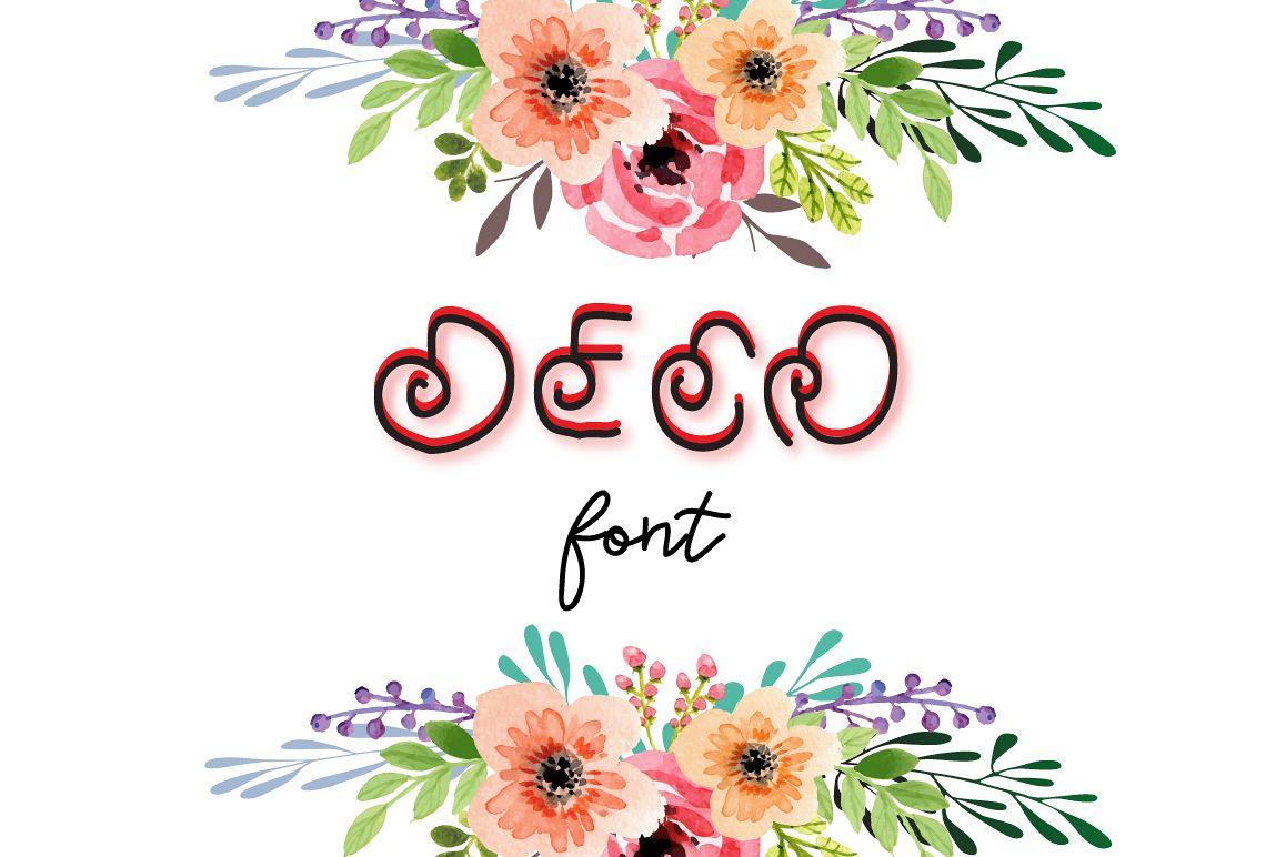 Deco- A cute font example image 1
