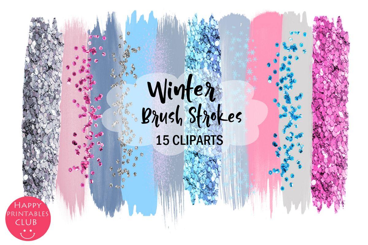 Winter Holiday Brush Strokes Clipart-Christmas Brush Strokes example image 1