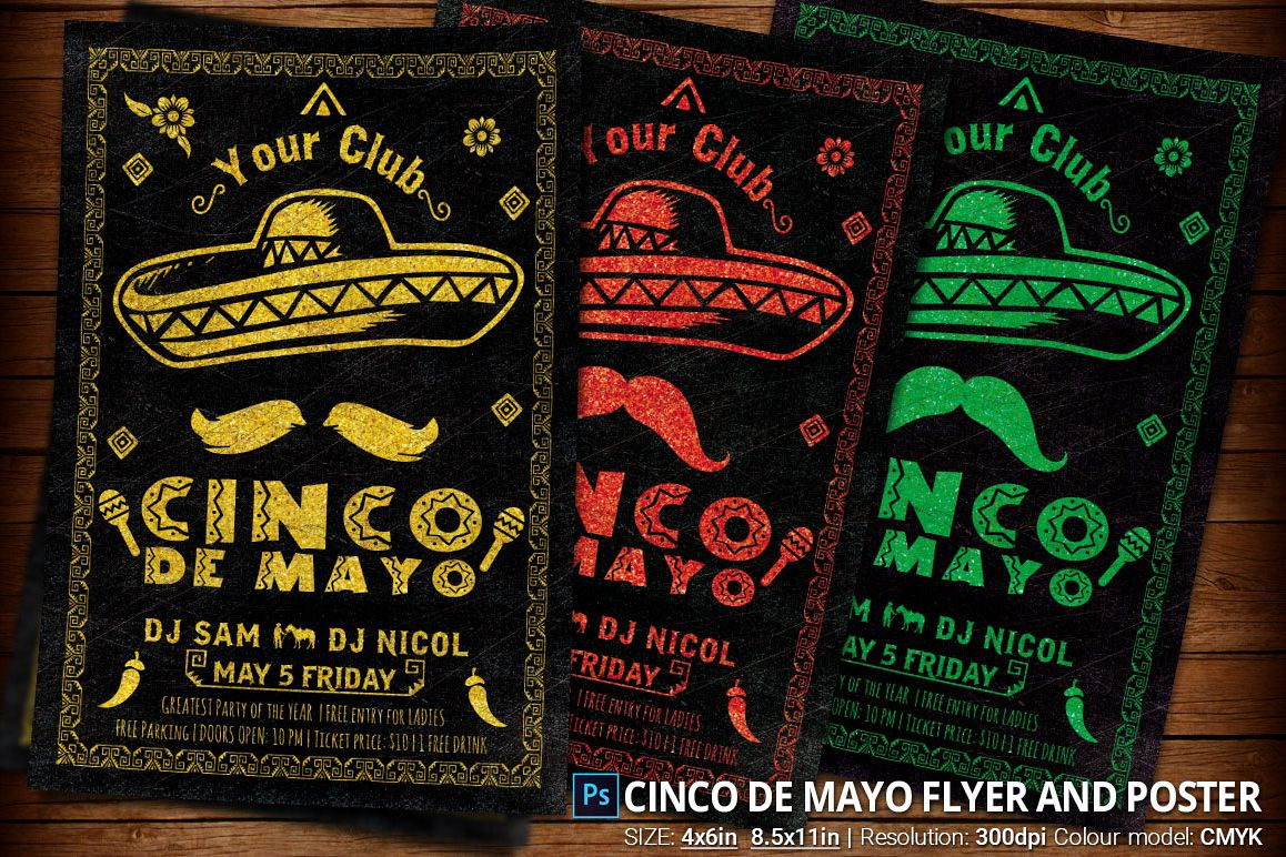 Cinco de Mayo Flyer And Poster