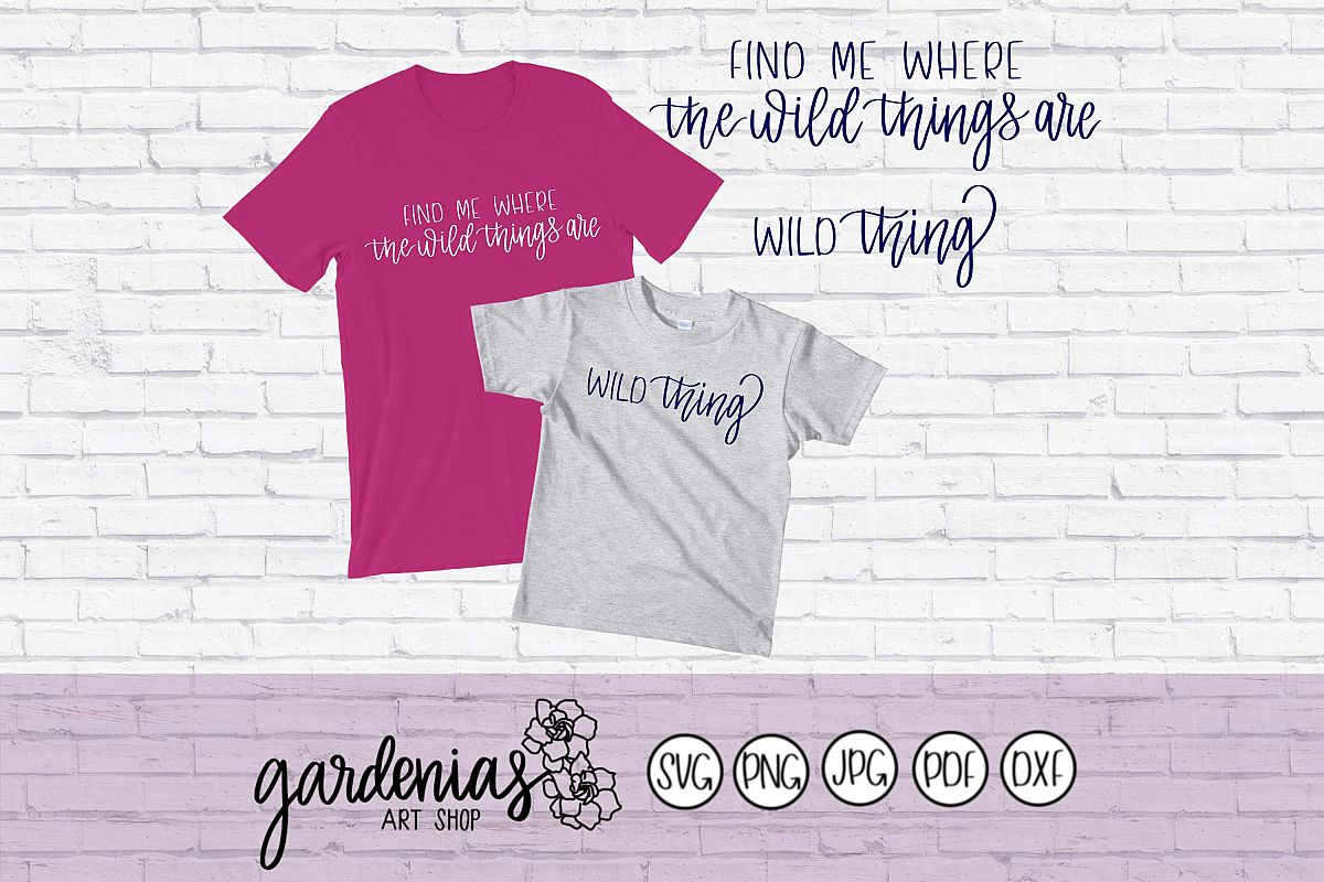 Find Me Where The Wild Things Are - Wild Thing example image 1