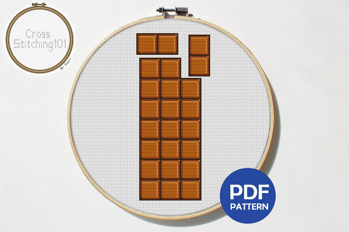 Chocolate Cross Stitch Pattern - Instant Download PDF example image 1
