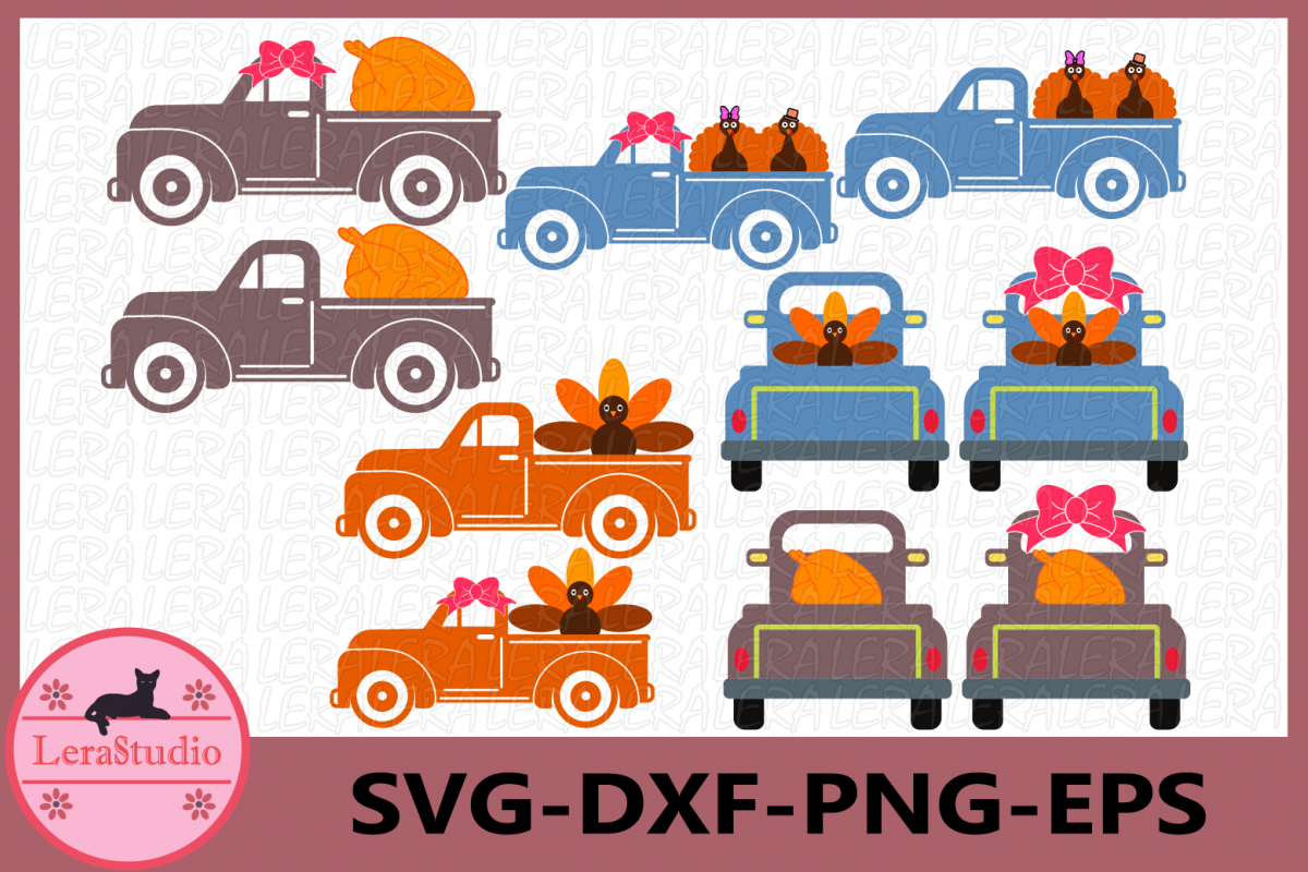 Thanksgiving SVG, Truck Svg, Turkey SVG, Thanksgiving Truck example image 1
