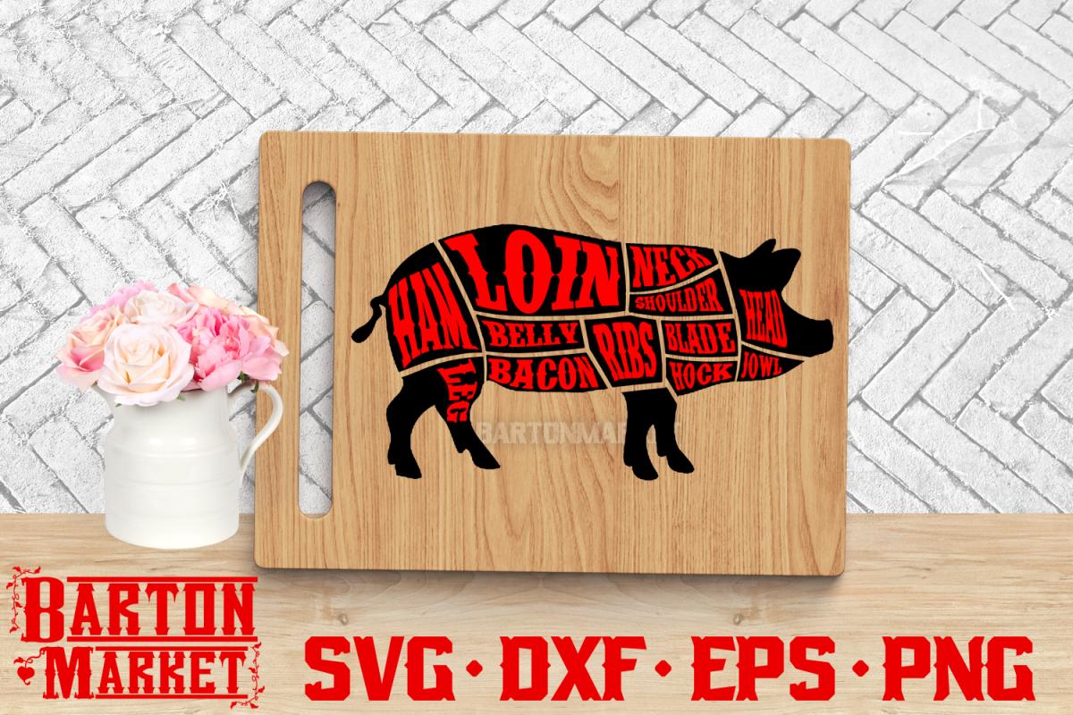 Pig Butcher SVG DXF EPS PNG 1 example image 1